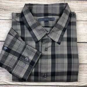John Varvatos XXL Plaid Long Sleeve Shirt